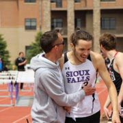 My friend Grant, track coach and owner of 605 Running Co