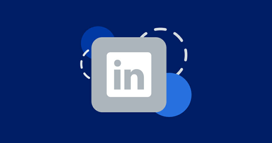 gray square logo icon with the letters i, n for linkedin.